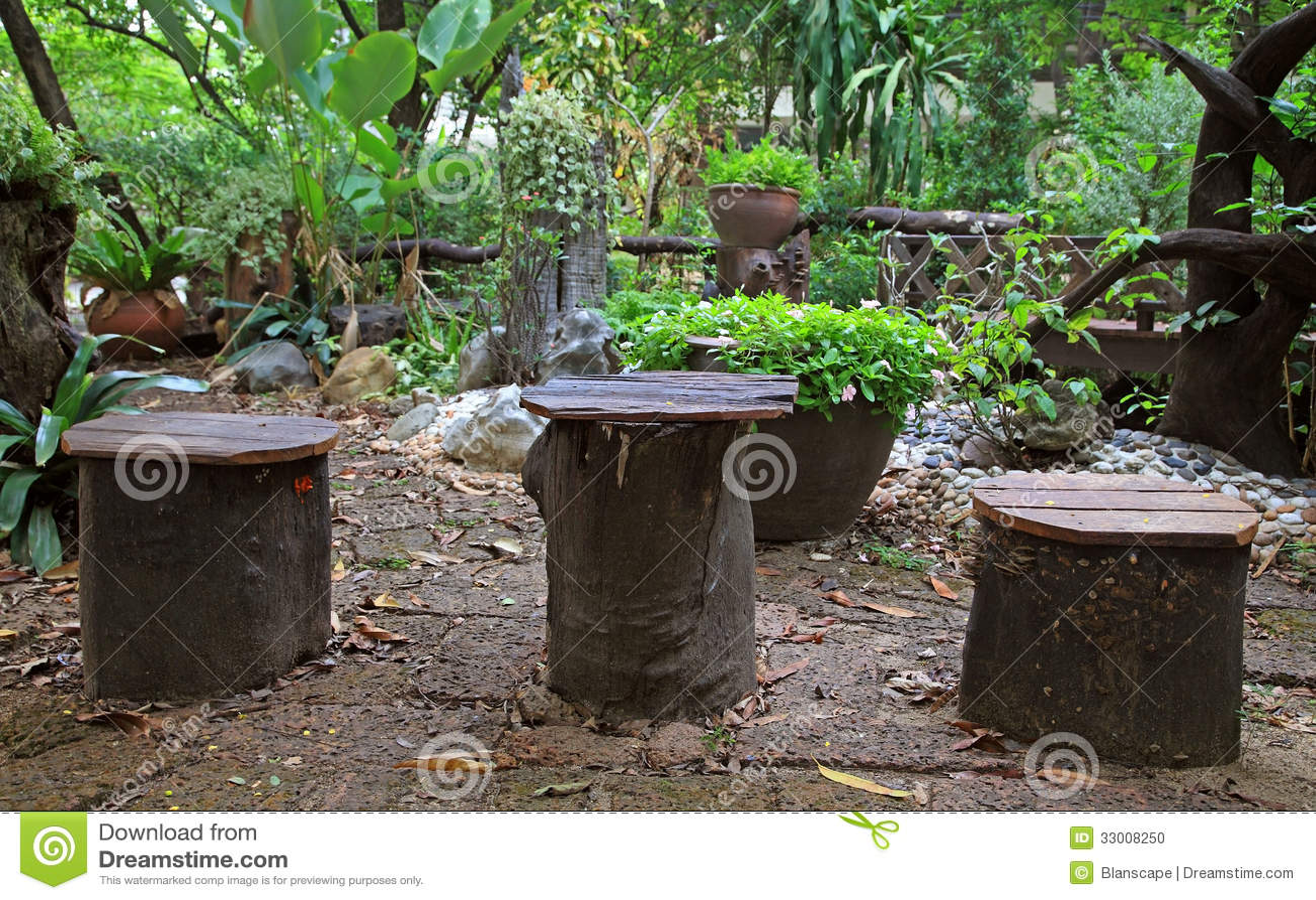 old wooden desk chair steel price in delhi tree trunk seats stock photo. image of empty, rural, fallen - 33008250