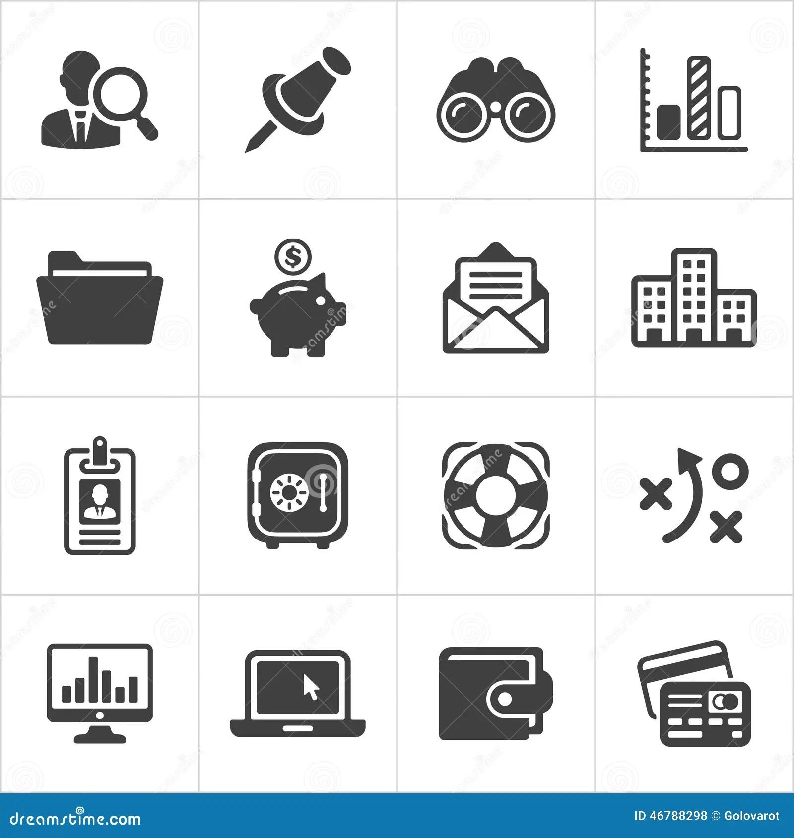Trendy Business And Economics Icons Set 3 Vector Stock