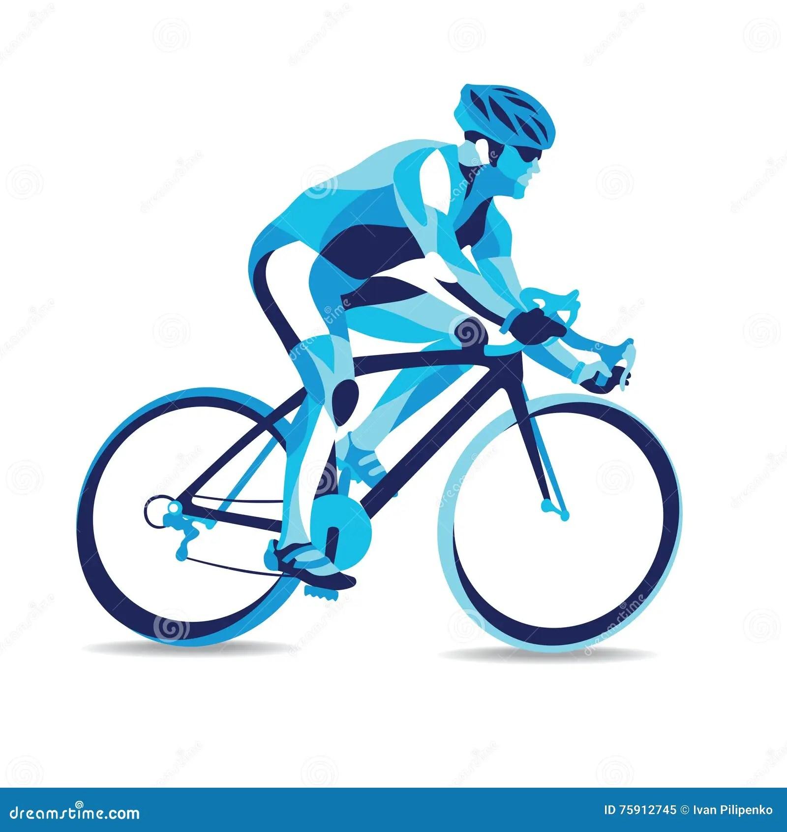 Trendy Stylized Illustration Movement Bicycle Race Line