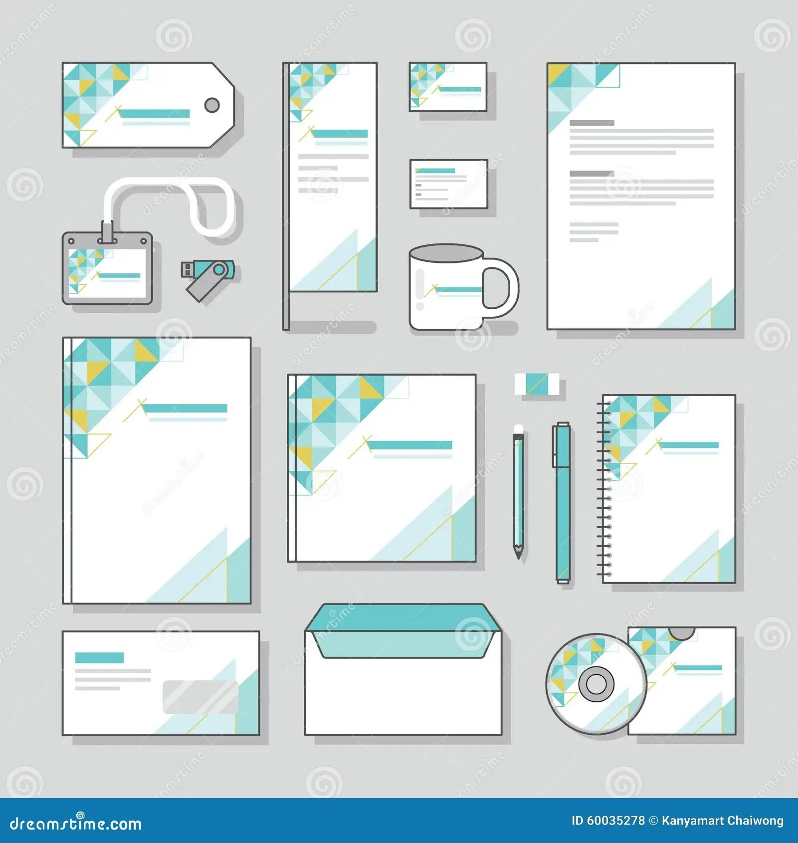Triangle Design Identity Template Stationery Design Set