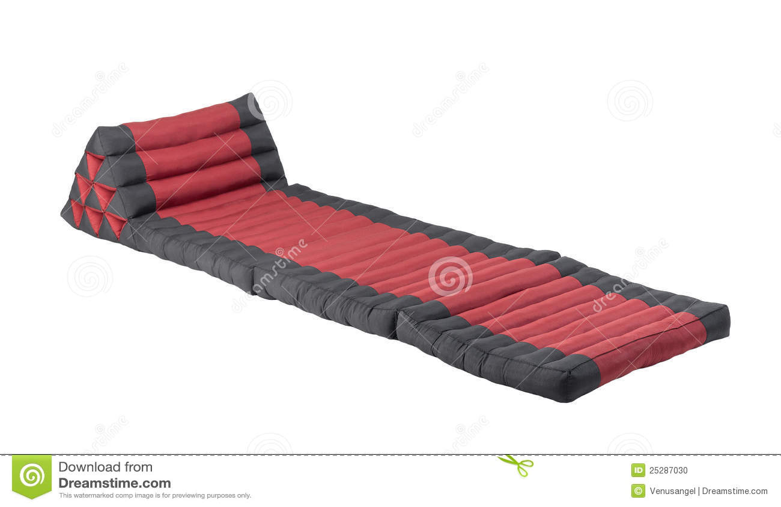 sofa bed 3 fold mattress semi circular triangle pillow with stock photo - image: 25287030