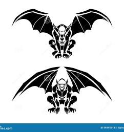 tribal gargoyle tattoo illustrations vector illustration [ 1300 x 1130 Pixel ]