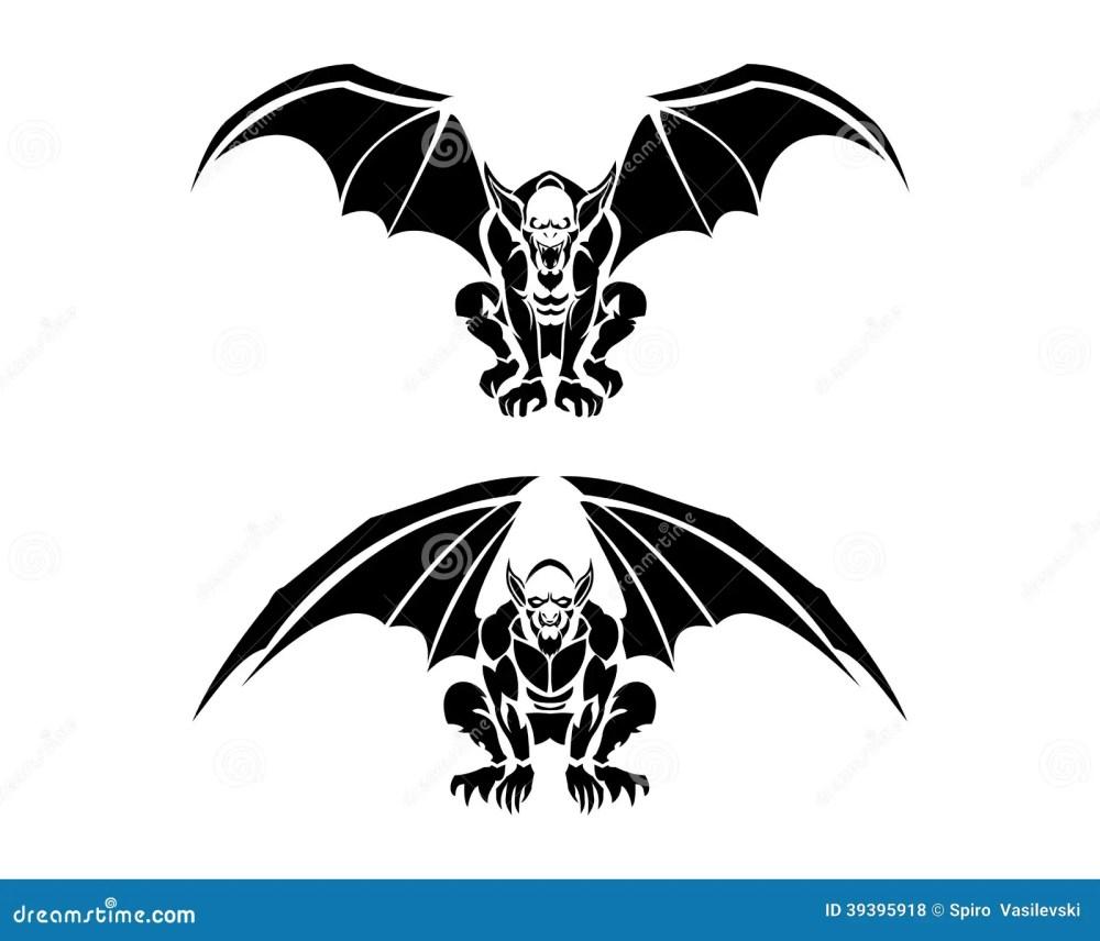 medium resolution of tribal gargoyle tattoo illustrations vector illustration