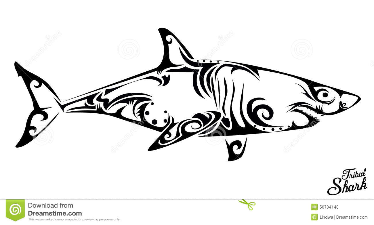 Tribal Shark Stock Vector Illustration Of Danger