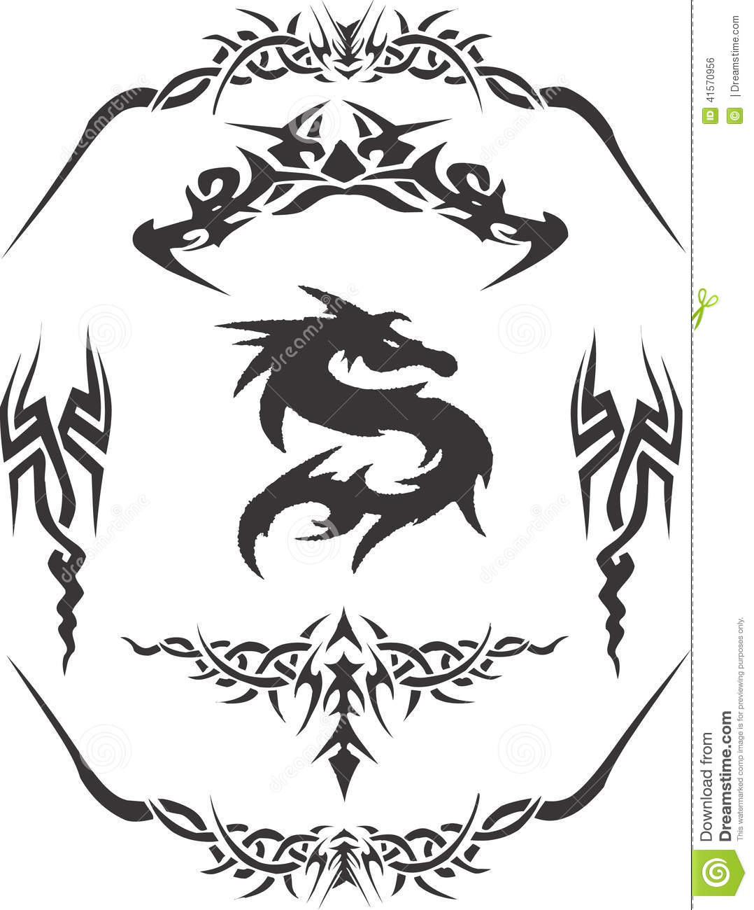 Tribal Tattoo Design Vector Clipart Stock Vector