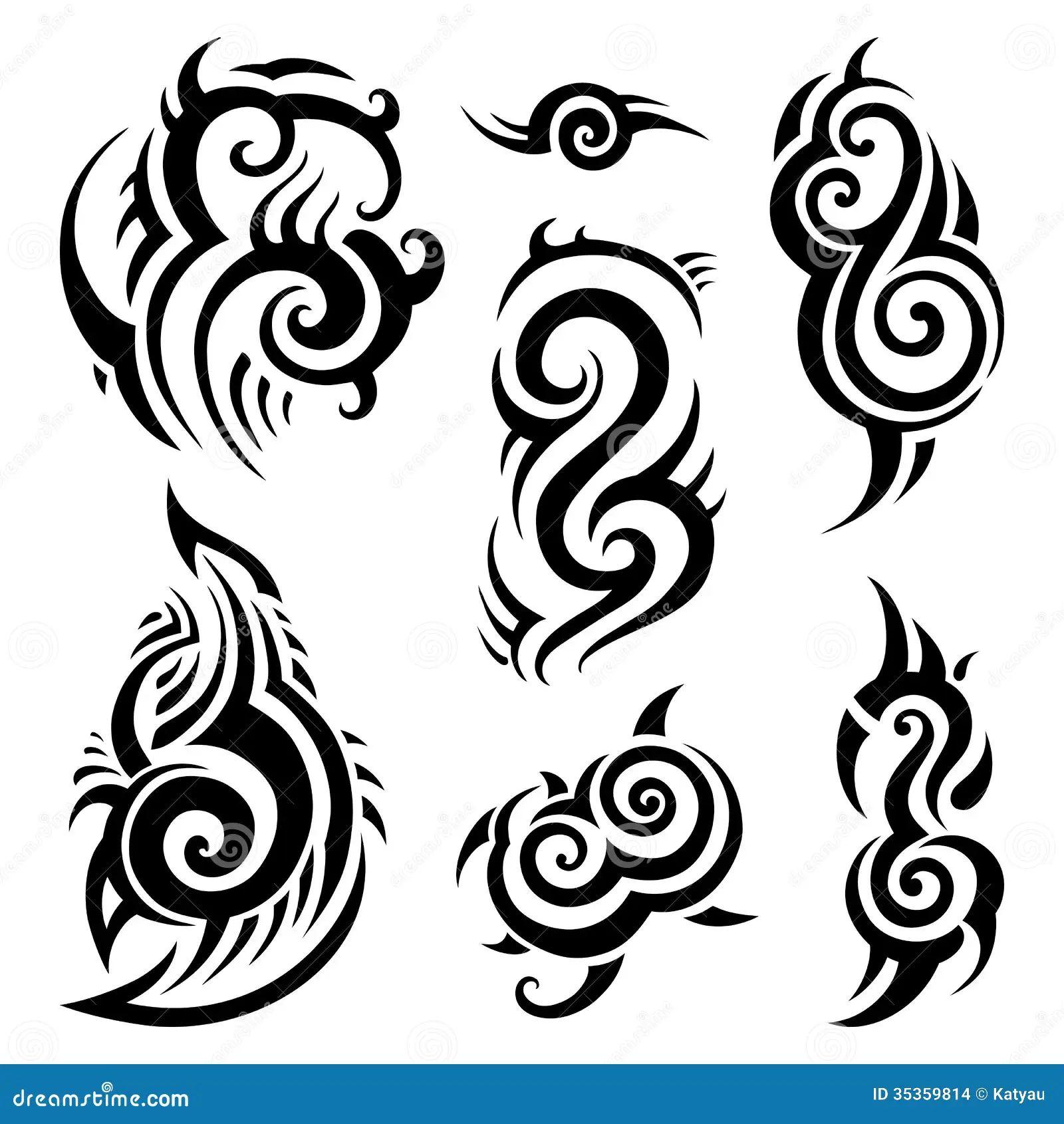 09526e1e2 Set Of Polynesian Tattoo Vector Illustration - Auto Electrical ...