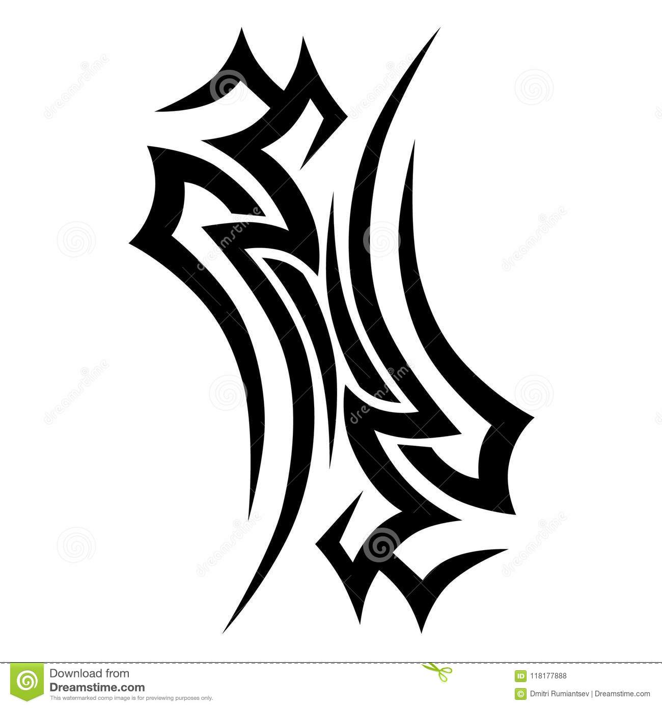 tribal tattoo vector design