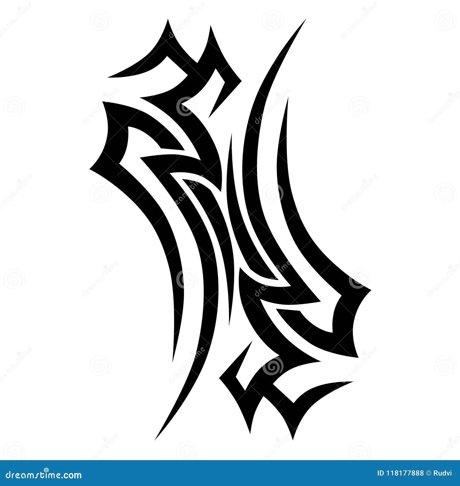 Tribal Chest Tattoo Stencil