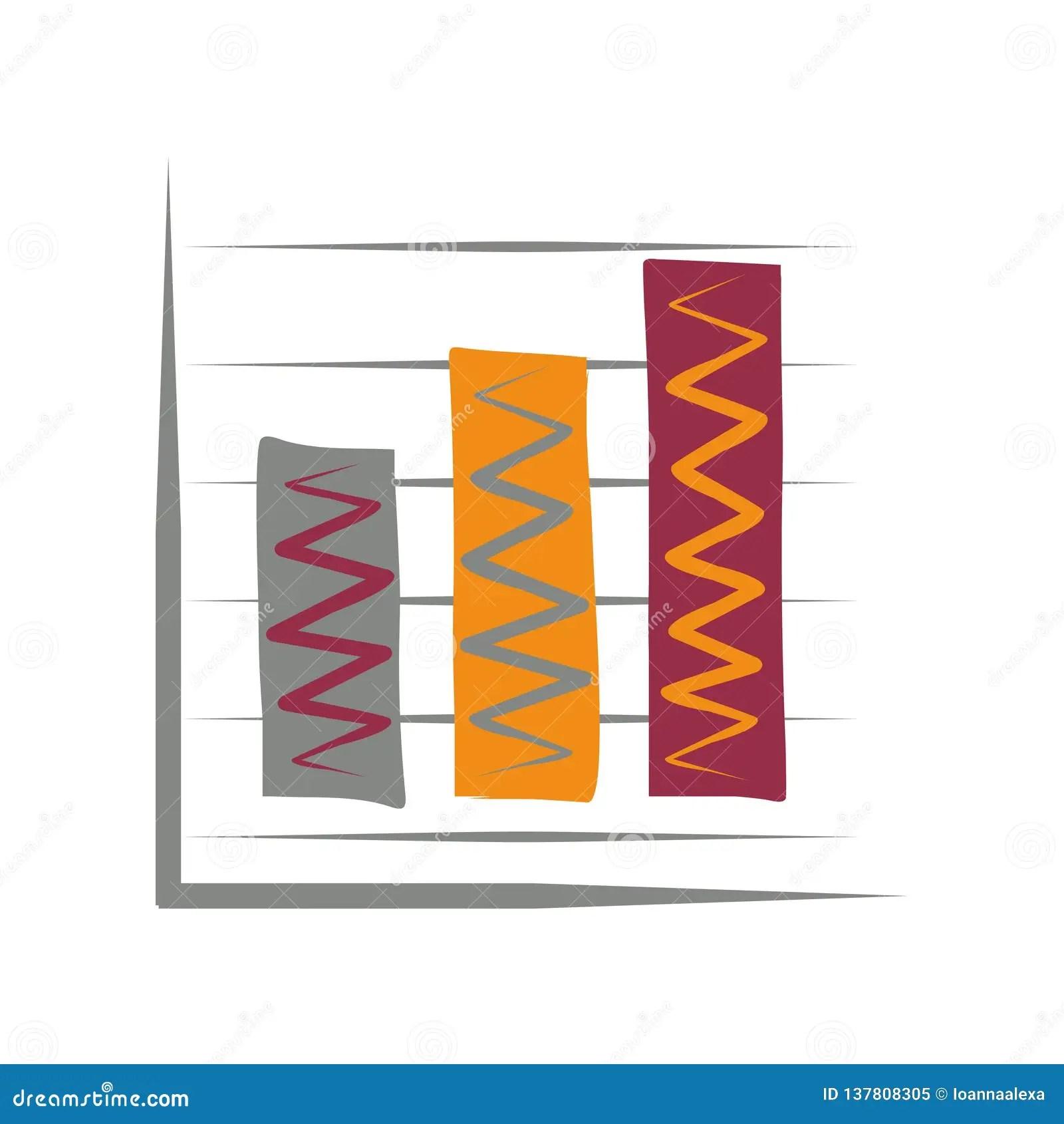 tricolor bar graph icon