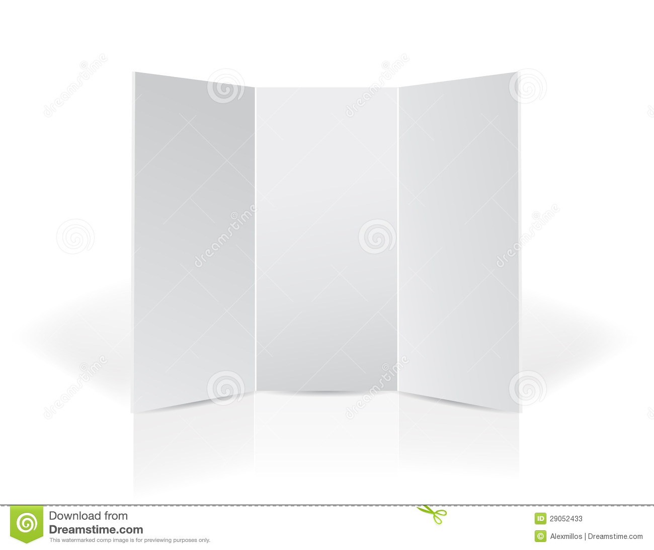 trifold board template