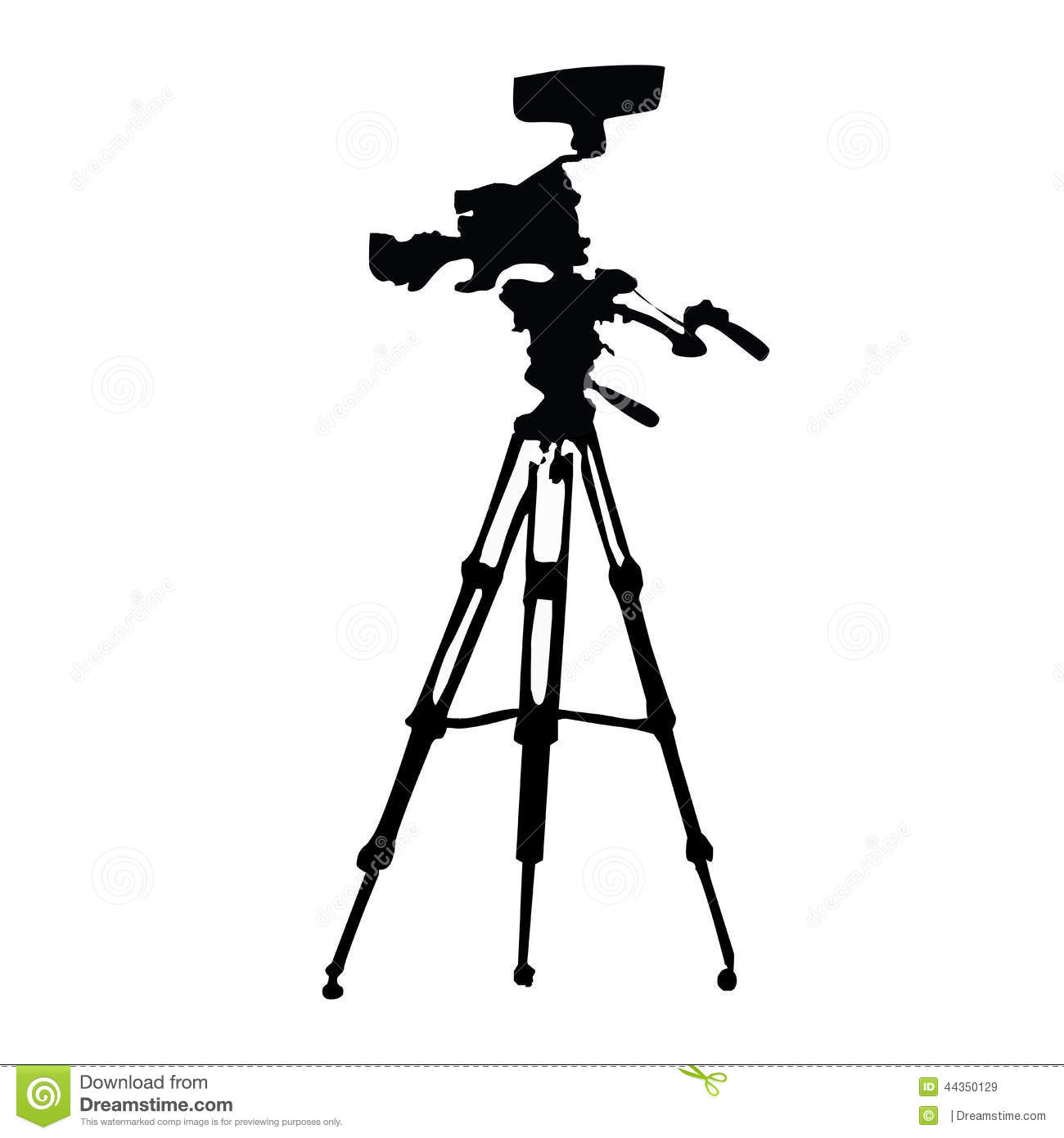 Tripod Stock Vector Illustration Of Black Illustrator