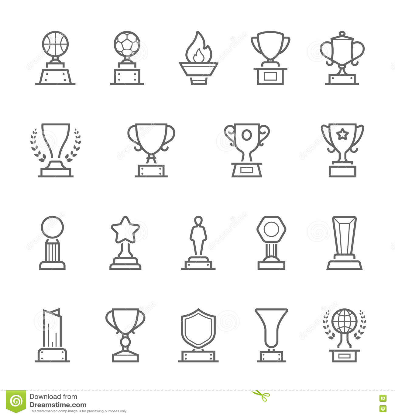 Trophy Outline Stock Illustrations 2 663 Trophy Outline