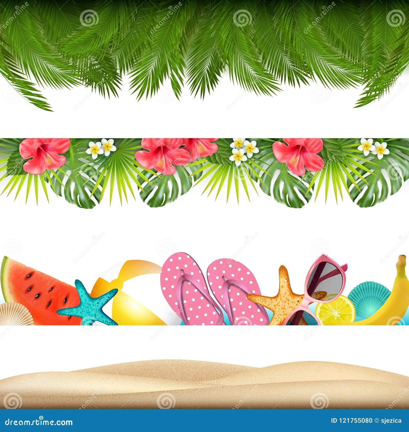 summer borders stock illustrations