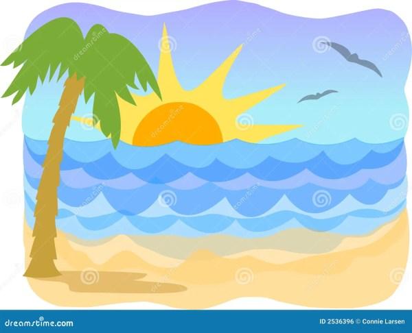 tropical beach ai stock vector