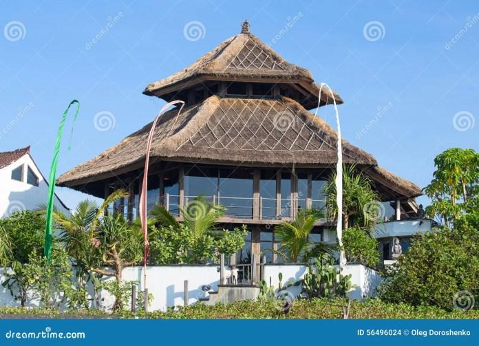Tropical Beach House In Bali, Indonesia Stock Photo ...