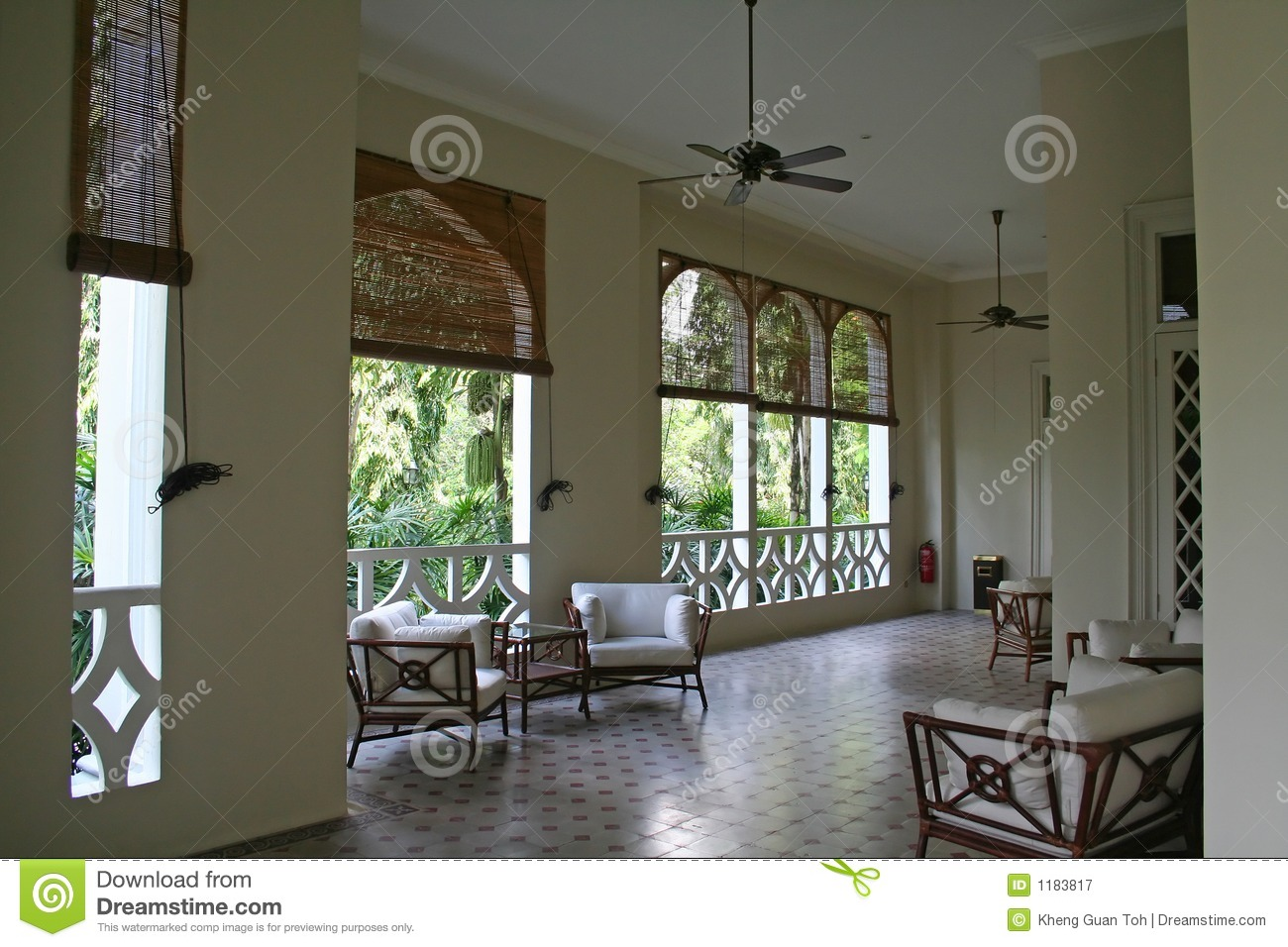 Tropical Colonial Architectur Stock Image  Image 1183817