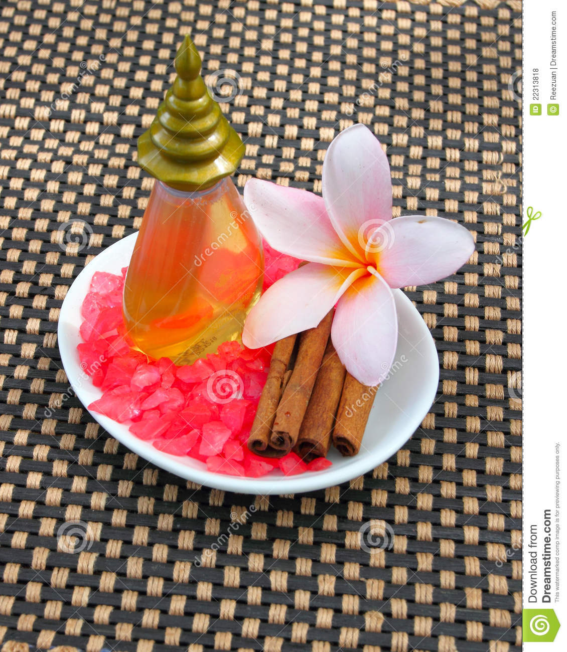 Tropical Spa Concept With Plumeria Flower. Cinnamo Stock Photo - Image of pink. gifts: 22313818