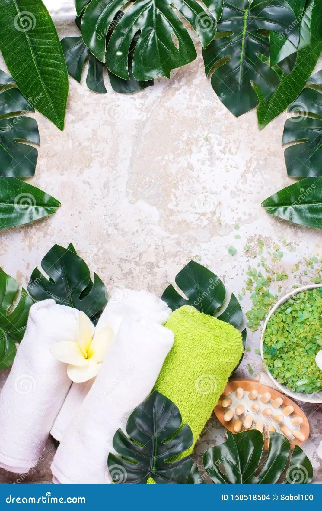 Tropical Spa Setting Layout Stock Photo - Image of alternative. evergreen: 150518504