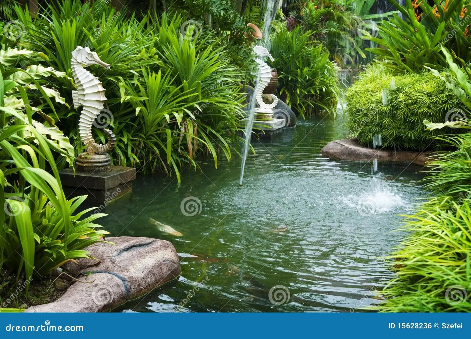 Tropical zen garden stock photo Image of courtyard feng