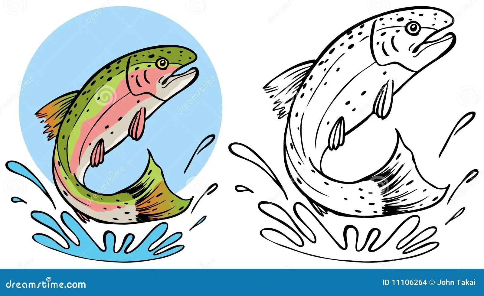Trout Splashing Stock Images
