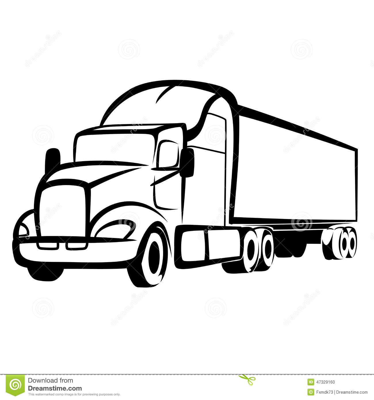 Truck Symbol Stock Vector Illustration Of Traffic