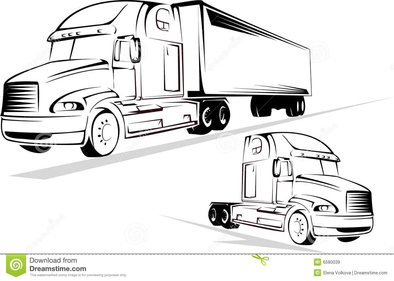 Truck On A White Background Stock Vector
