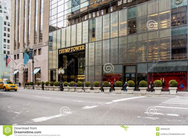 Trump Tower Ave Nyc Editorial Stock