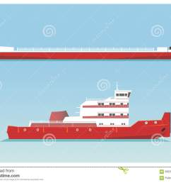 tugboat and barge vector illustration eps 10 opacity stock illustration [ 1300 x 1011 Pixel ]