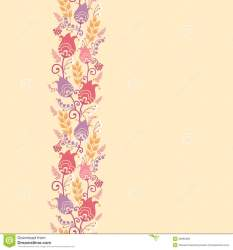 horizontal pattern border flowers tulip seamless elegant dutch floral colorful vector hand motives drawn preview