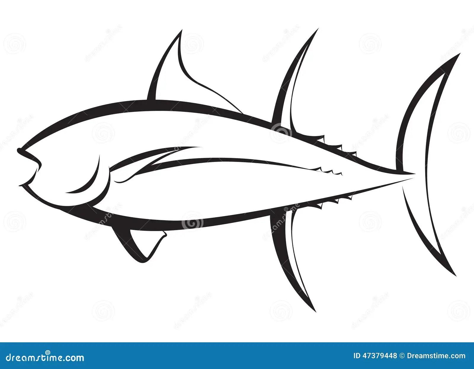 Tuna Fish Silhouette Stock Illustration Image 47379448