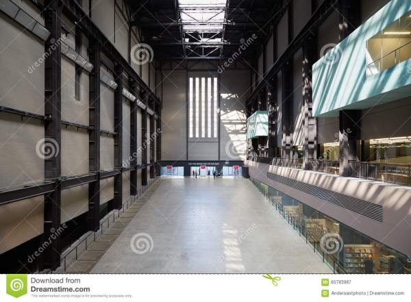 Turbine Hall In Tate Modern Art London