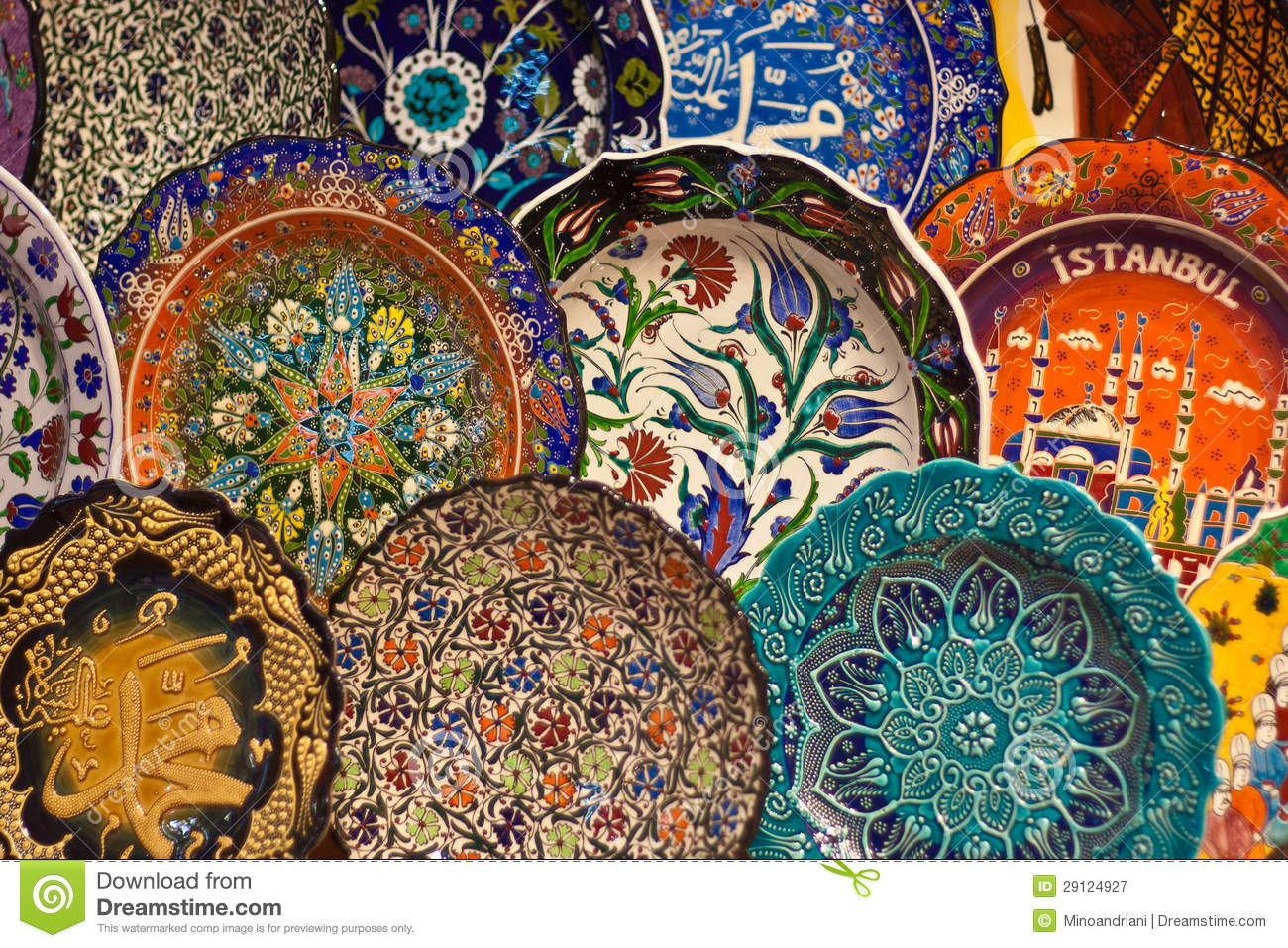 Turkish ceramic art stock image Image of asian handmade