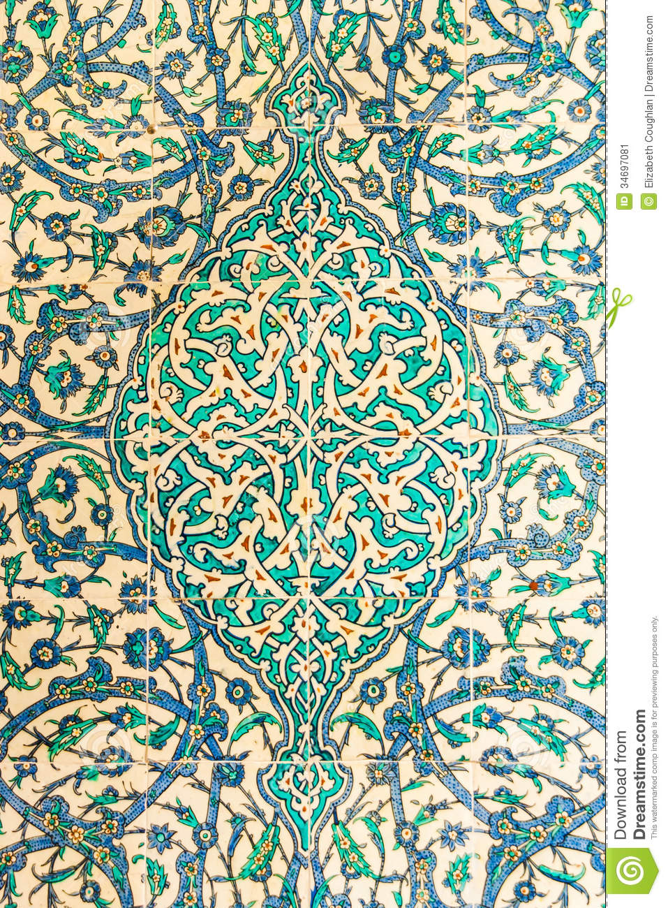 Turkish Ceramic Tiles stock image Image of pattern
