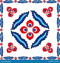 Turkish Tile Design Art Paintings Stock Vector - Image ...