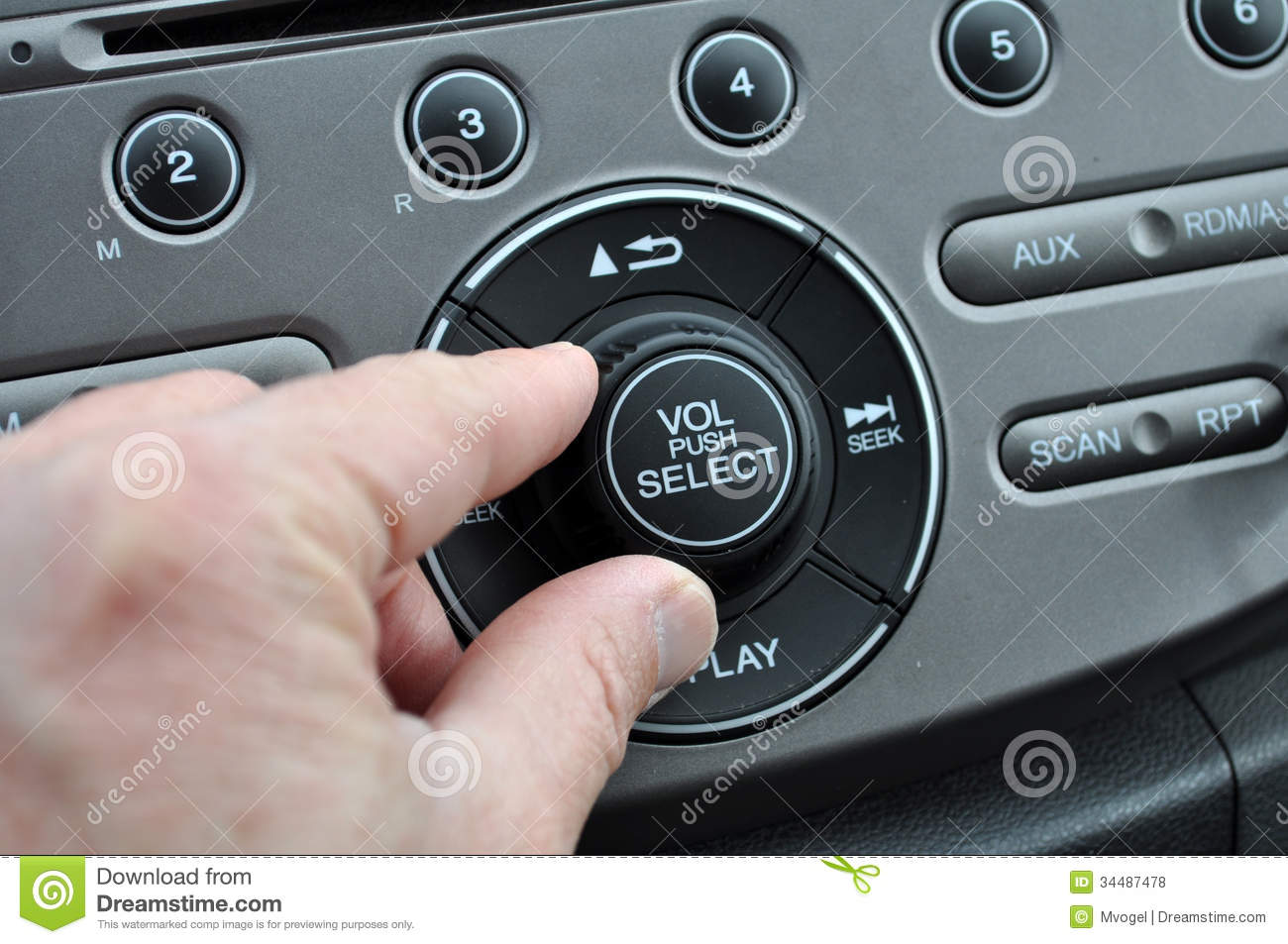 Turn Up The Radio Stock Photo Image Of Automobile Hand
