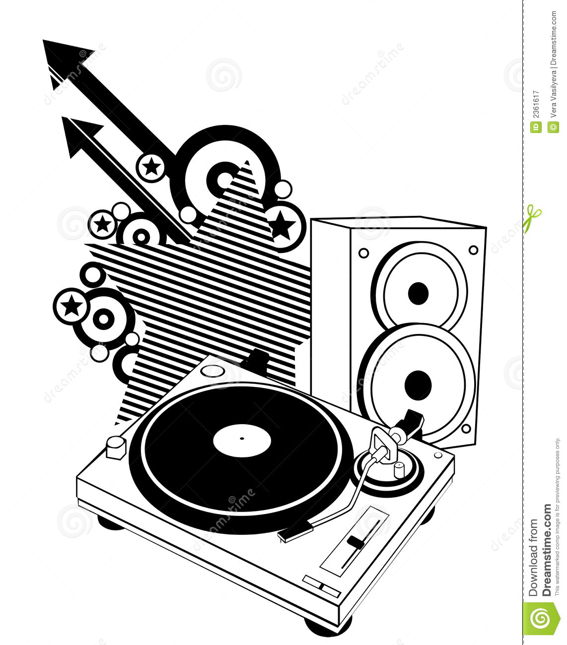 Turntable And Speaker Royalty Free Stock Photography