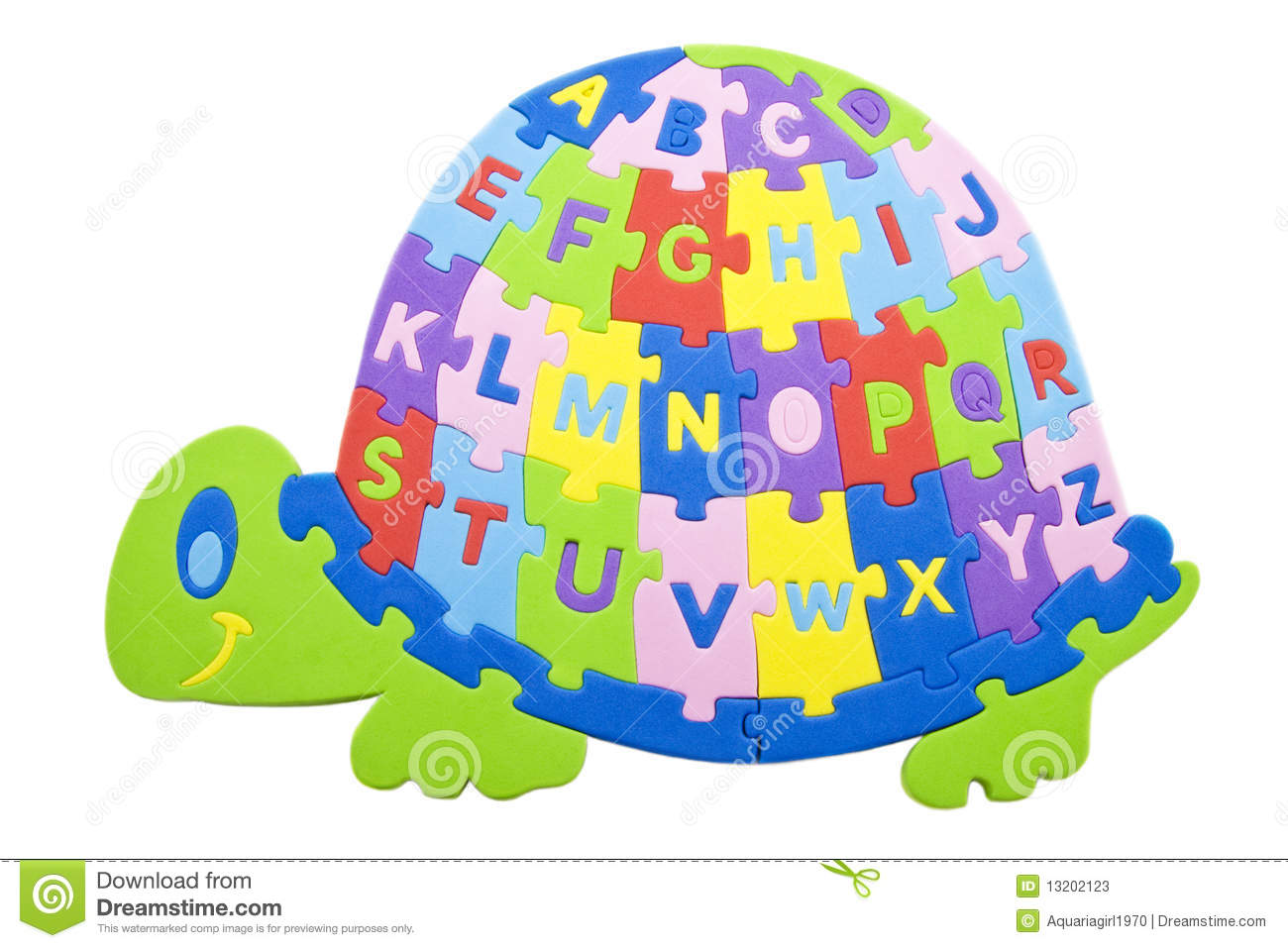 Turtle Alphabet Stock Photos
