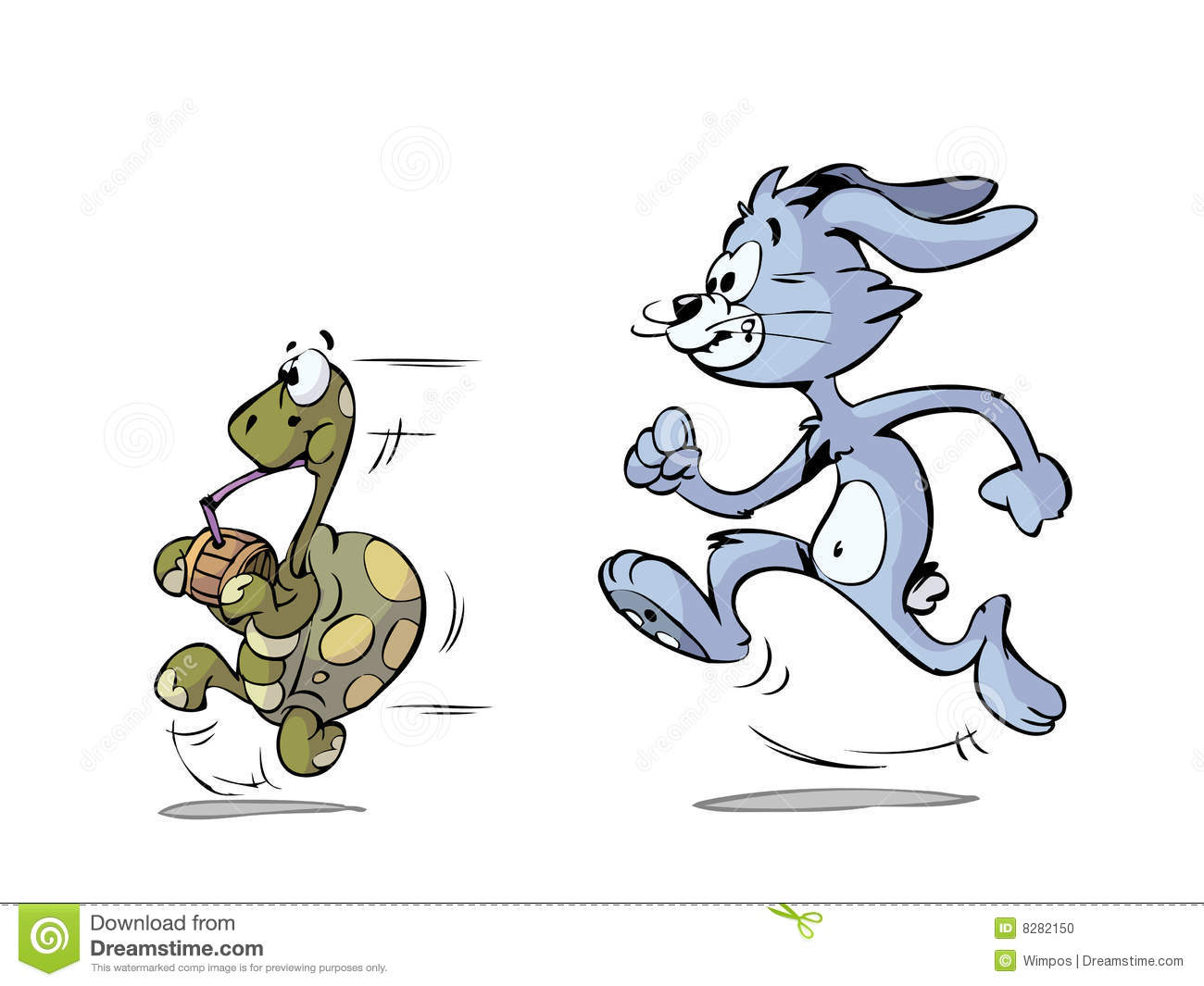 Turtle And Hare Running Stock Vector Illustration Of Game