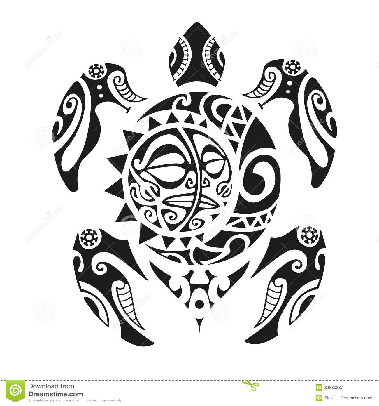 Turtle A Silhouette Vector Illustration Vector