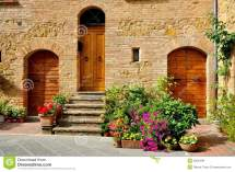 Tuscan Traditional House In Italy Stock - Of