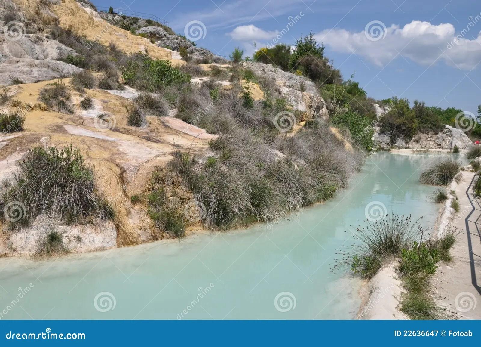 Tuscany Hot Spring In Bagno Vignoni Stock Image  Image