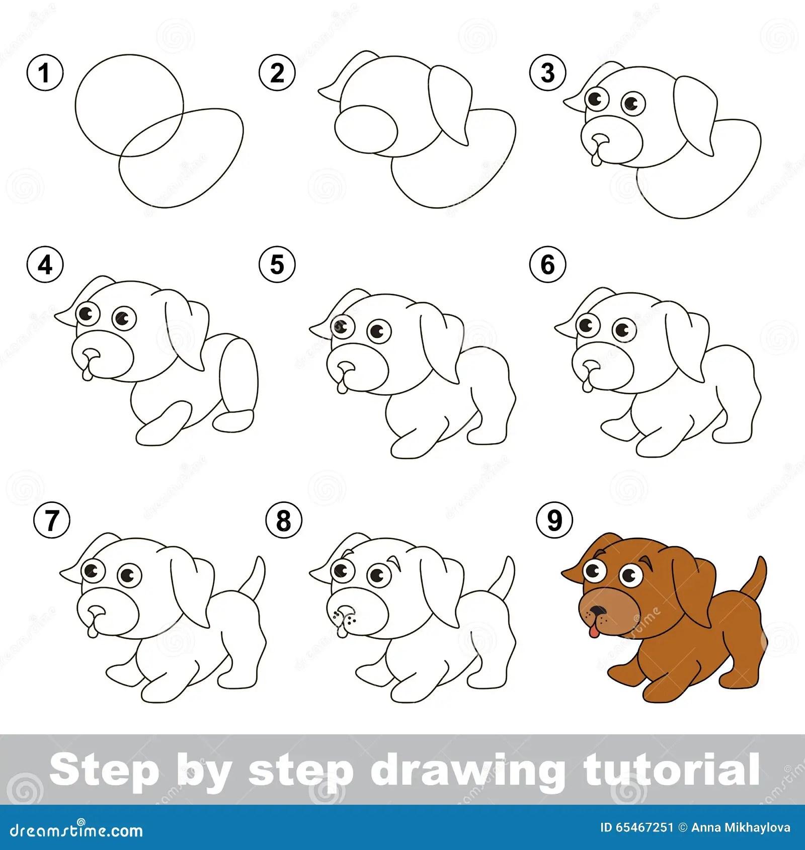 Tutorial Del Dibujo Como Dibujar Un Pequeno Perrito