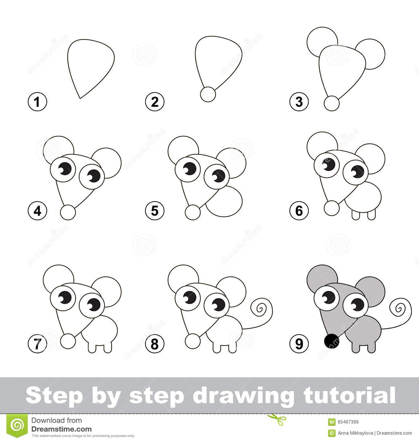 Tutorial Del Dibujo Como Dibujar Un Pequeno Raton