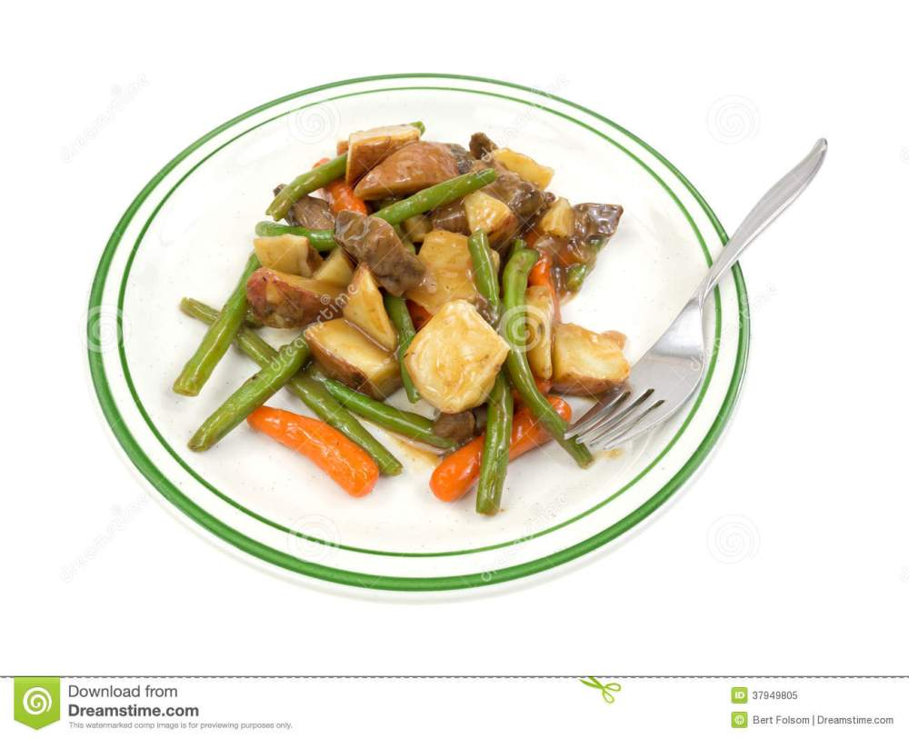 medium resolution of tv dinner beef meal on plate with fork