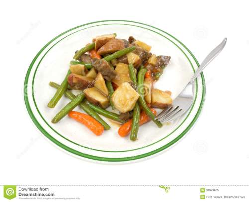 small resolution of tv dinner beef meal on plate with fork