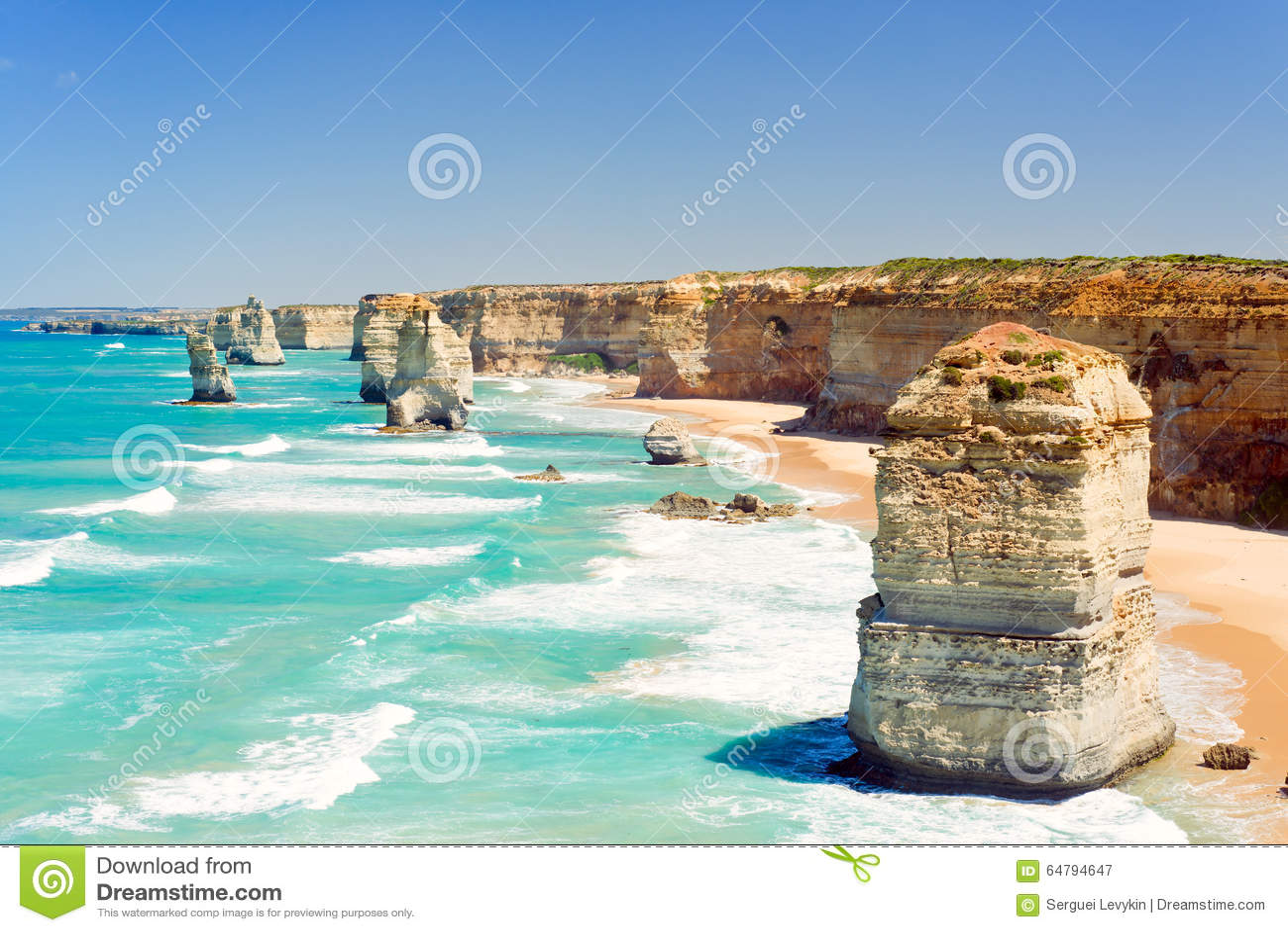 The Twelve Apostles Great Ocean Road Australia Stock