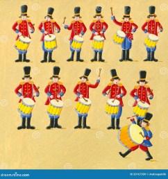 twelve drummers drumming [ 1300 x 1384 Pixel ]