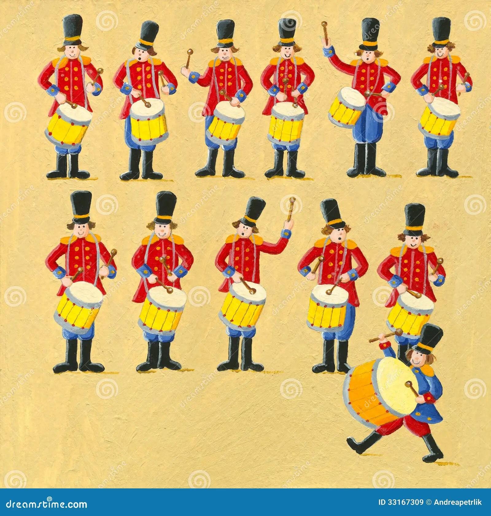 hight resolution of twelve drummers drumming