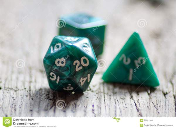 Dungeons Dragons 4 Sided Dice Stock Royalty Free - Year of