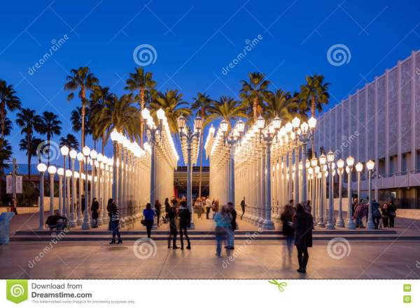 Twilight Exterior Of Los Angeles County Museum Art